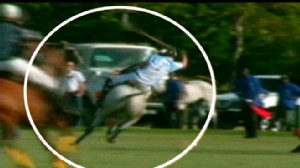 VIDEO: Britains Prince Harry is thrown from his horse during a polo match in Barbados.