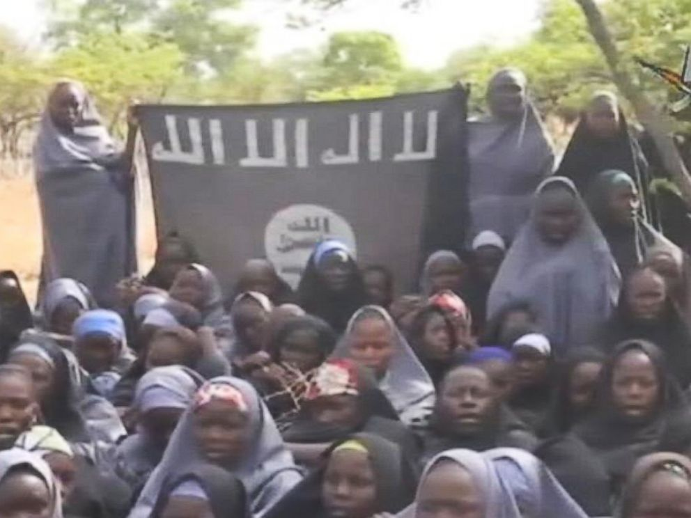 PHOTO: Video released May 12, 2014 by Boko Haram, the terrorist group, purportedly shows dozens of girls recently kidnapped in Nigeria.