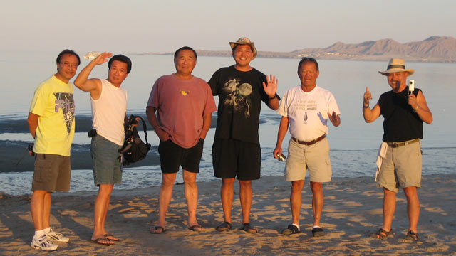 PHOTO: A group of fishermen from San Felipe, Calif. pose for a photo before shipping out. From left to right: Les, Albert, Lee, Mike, Gene, and Don. Their ship capsized o