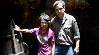 ABC's Bob Woodruff poses with 17-year-old Pemba Tamang, a coal miner in the Indian state of Meghalaya.