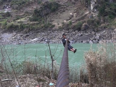 The villagers who live along cliffs of the Nujiang may be the last generation of zipliners.