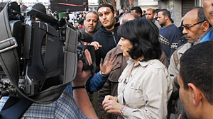 Photo: Christiane Amanpour reports from Cairo