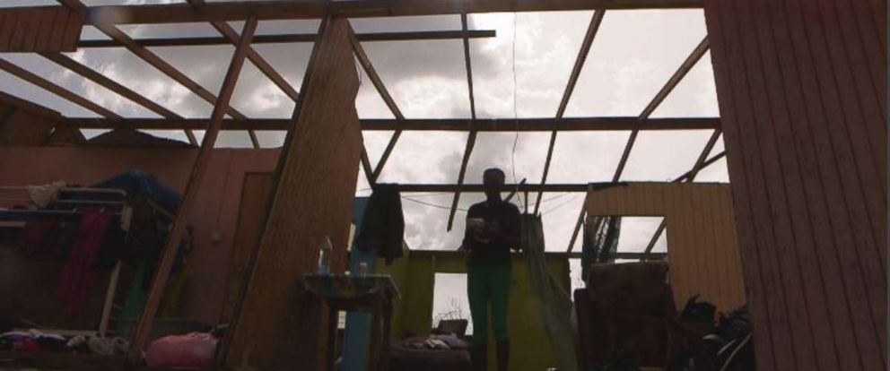 Verlyn Peter and her family is now trying to rebuild after Hurricane Maria destroyed their home.