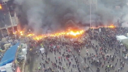 VIDEO: Video shows Kiev after a night of violence between police and anti-government protesters.
