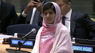 VIDEO: Pakistani girl celebrates her 16th birthday on day she speaks to United Nations student delegates.