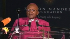 VIDEO: Desmond Tutu Leads Nelson Mandela Tribute Event