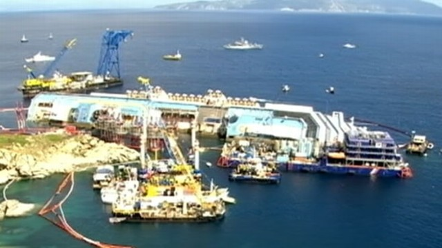 Costa Concordia Cruise Ship Recovery Effort Video  ABC News