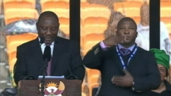 VIDEO: Nelson Mandela Memorial Interpreter Angers Deaf Community