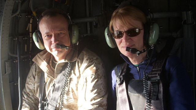 PHOTO: Gen. John Allen and Martha Raddatz