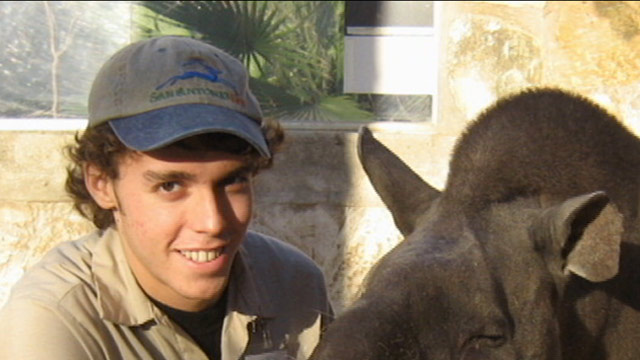PHOTO: Andrew Oberle, a 26-year-old Texas graduate student is recovering after the chimpanzees he was working to protect turned on him violently in South Africa.