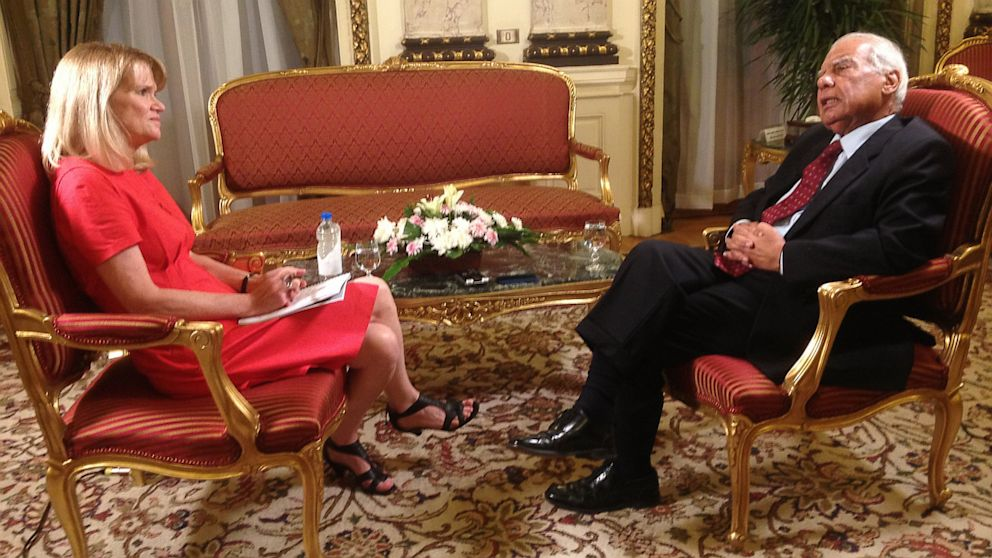 PHOTO: Egyptian Prime Minister Hazem Abdel Aziz El Beblawi and Martha Raddatz