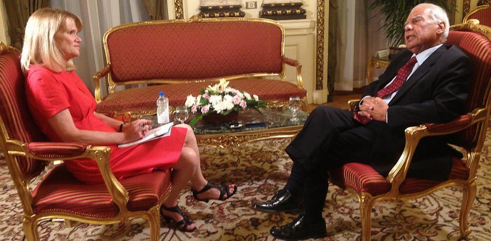 PHOTO: Egyptian Prime Minister Hazem Abdel Aziz El Beblawi and Martha Raddatz