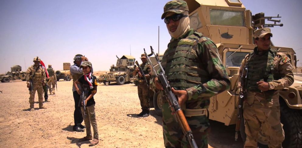 PHOTO: ABC News goes to the front lines in the fight against ISIS in Iraq.