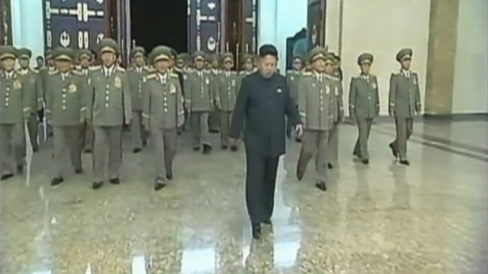 VIDEO: The North Korean leader was seen limping during a ceremony commemorating the death of his grandfather, Kim Il-sung.