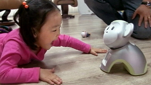 PHOTO: The Kibot, built Korean telecom giant KT Corp. reads, sings, and teaches in multi-languages.