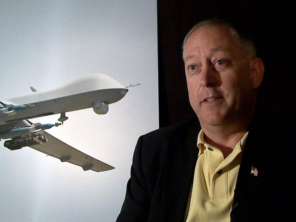 PHOTO: Lt. Col. Mark McCurley (Ret.) talks about the drone strike that killed American al Qaeda member Anwar al-Awalki.