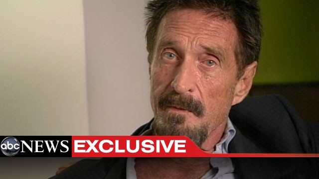 PHOTO: Software company founder John McAfee returns to the U.S., Dec. 13, 2012.