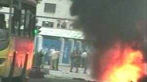 VIDEO: Muslim protesters are killed in clash with police in China.