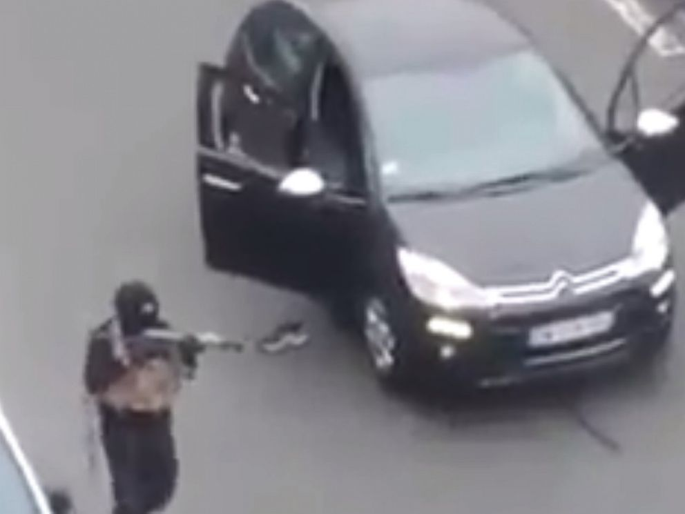 PHOTO: Video appears to show gunmen who allegedly attacked a French satirical magazine Jan. 7, 2015.