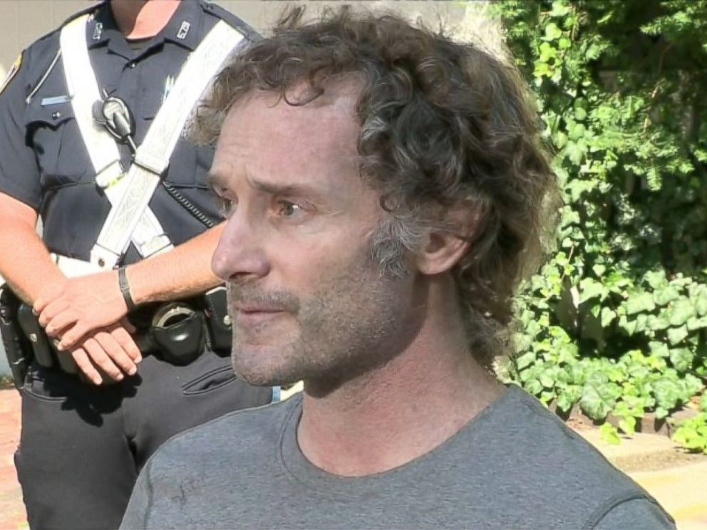 PHOTO: Freed American journalist, Peter Theo Curtis, gives a statement outside his family home in Cambridge, Mass., Aug. 27, 2014.