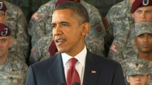 VIDEO: President Obama thanks troops in Fort Bragg for Iraq service.