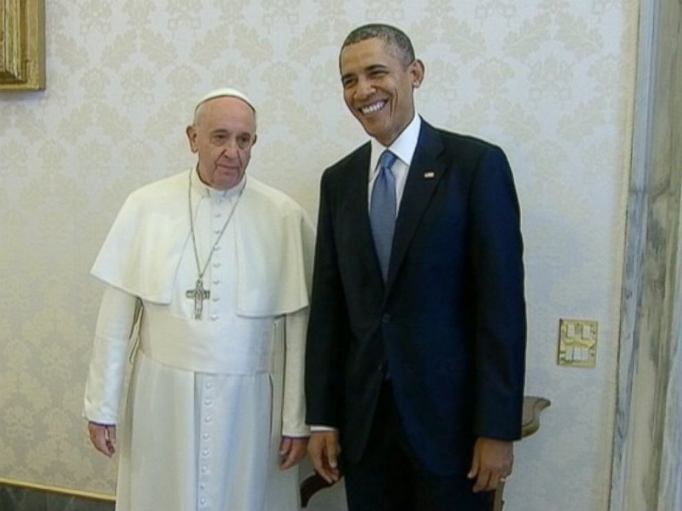 PHOTO: President Obama meets with Pope Francis on March 27, 2014.