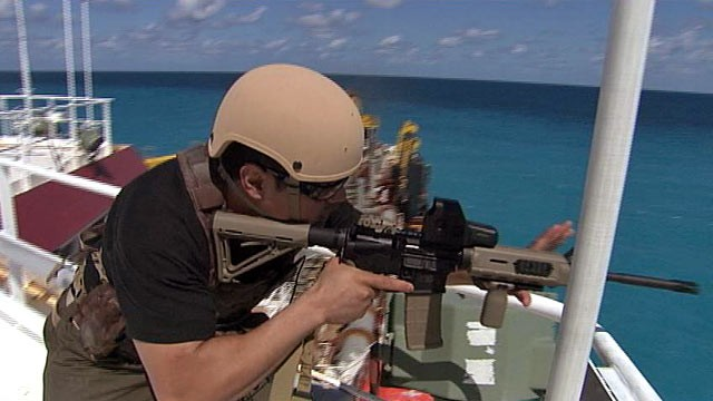PHOTO: Private security firms see a business opportunity, as commercial ships seek protection from Somali pirates.
