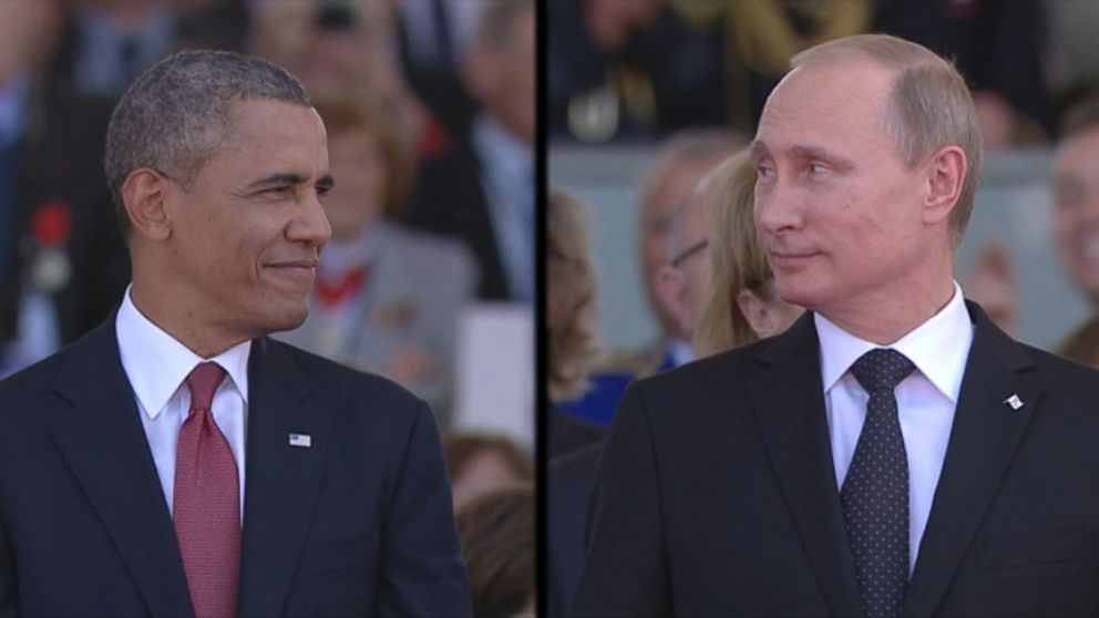VIDEO: Video broadcasted of the two presidents was met with audience laughter at Sword Beach ceremony.