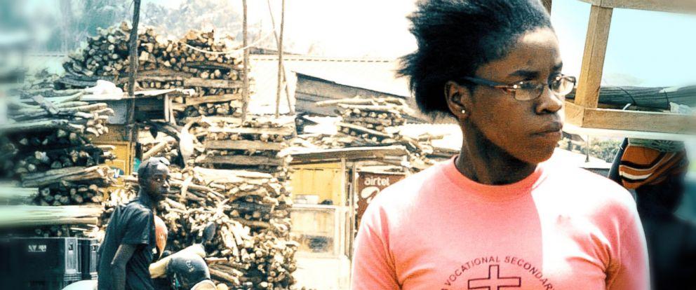 PHOTO:Phiona Mutesi walking at the Gabba Market in Uganda.