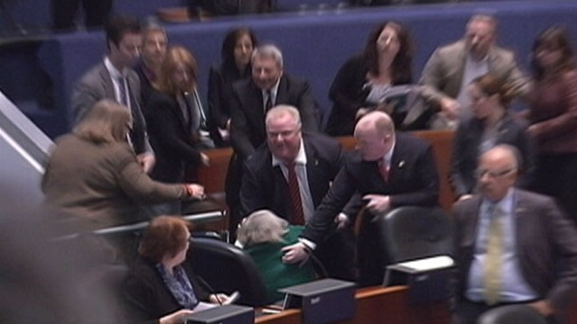 VIDEO: Rob Ford says he was rushing to his brothers defense when he accidentally ran into Pam McConnell.