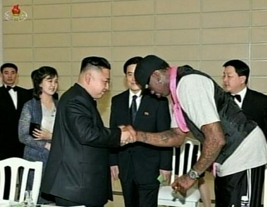 Dennis Rodman goes to North Korea