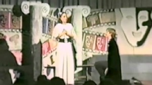 """VIDEO: School play shows """"William"""" on bended knee."""