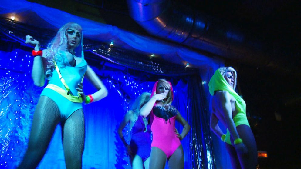 PHOTO: Performers on stage at Central Station, Russias largest gay nightclub, located in Moscow.