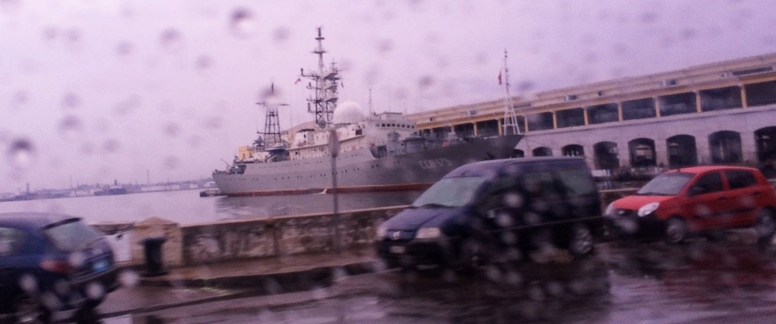 PHOTO: Days before US-Cuba talks were set to begin, the Russian spy ship Viktor Leonov CCB-175 was seen docked in the Havana harbor on Jan. 20, 2014.