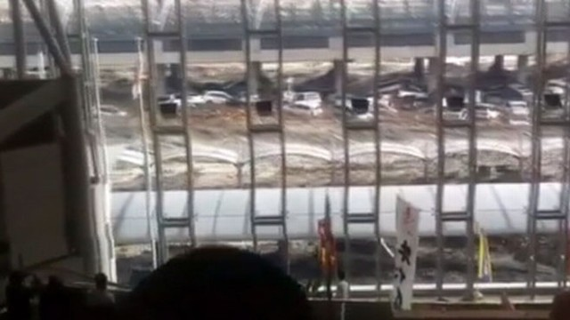 VIDEO: This amateur footage captures the moment the wave strikes Sendai Airport.