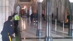 VIDEO: Gunfire heard inside the halls of Parliament Hill in Ottawa.