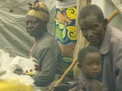 Picture of refugees in the Congo.