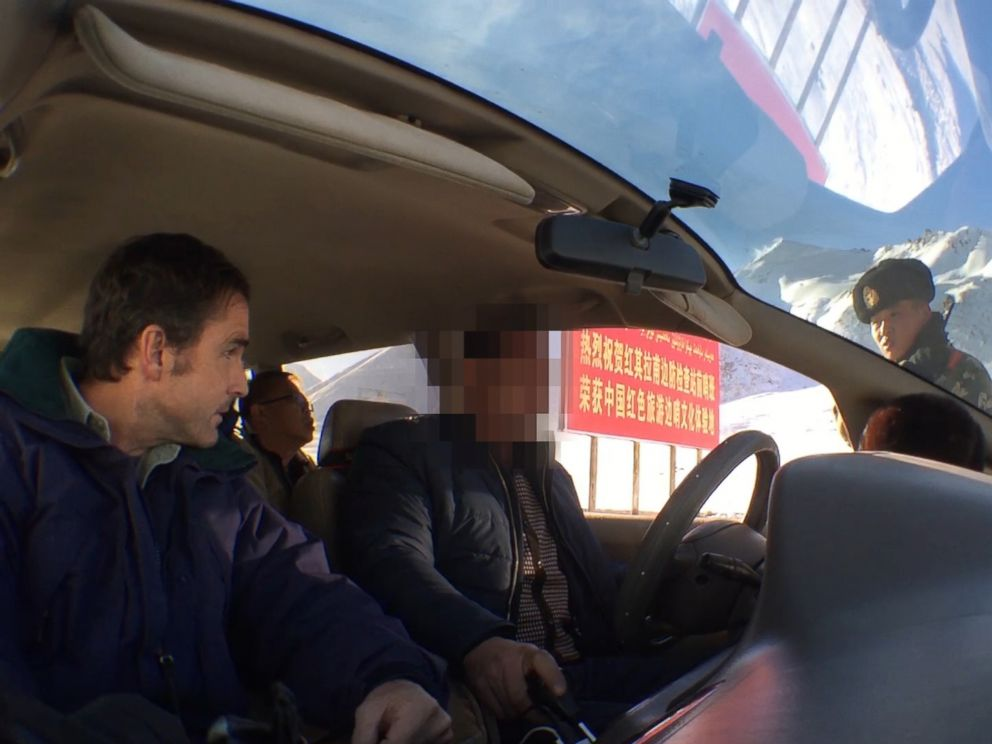 PHOTO: ABC News Bob Woodruff is stopped during a security checkpoint at Khunjerab Pass at the border of China and Pakistan in December 2015.