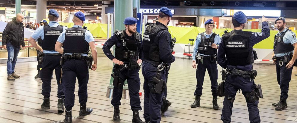 PHOTO: A view inside Schiphol Airport after a man wielding a knife was shot by military police, Amsterdam, Netherlands, Dec. 15 2017.