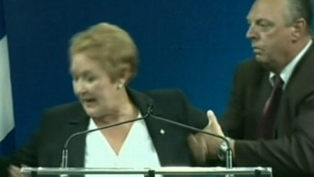 VIDEO: Gunman opened fire at victory rally for Quebecs new premier, Pauline Marois.