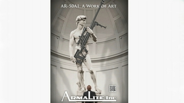 VIDEO: U.S. gun manufacturer ArmaLite Inc., tweaks the masterpiece to include an AR-50A1 rifle.