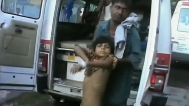 VIDEO: Dozens of children were also hospitalized after eating the free meals at their primary school.