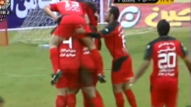 VIDEO: Two players were suspended for an immoral celebration during soccer game.