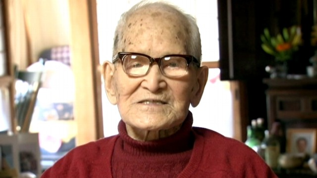VIDEO: Jiroemon Kimura is 237 days younger than Besse Cooper, the oldest living person.