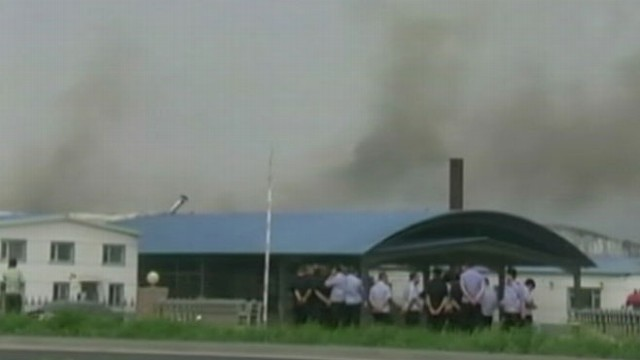 Video: Chinese Poultry Plant Fire Kills Dozens