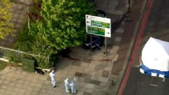 VIDEO: British authorities investigate slaying outside military training barracks in southeast London.
