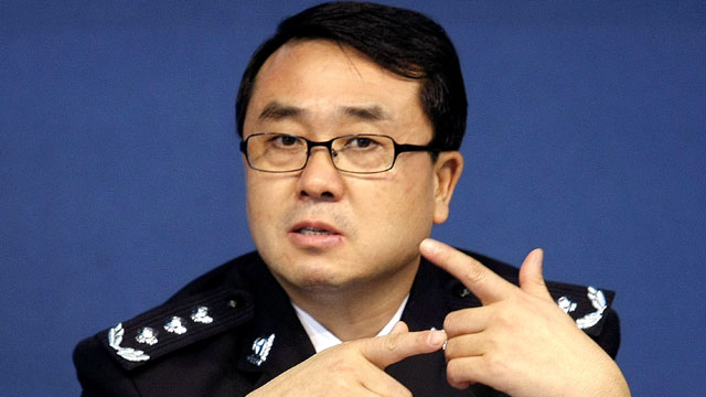 PHOTO: In this Oct. 21, 2008 photo, Chongqing city police chief Wang Lijun reacts during a press conference in the southwestern China city.