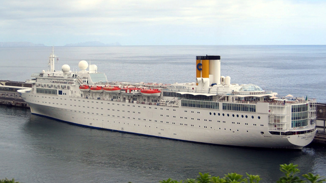 PHOTO: An undated picture of the Costa Allegra cruise ship in Genoas Harbor, Italy. The Italian coast guard says a fire has broken out on an the Costa Allegra cruise ship off the Seychelles islands, Feb. 27, 2012, and the ship is adrift, but the passenge