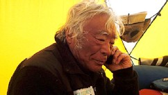 PHOTO:Yuichiro Miura, 80, became the oldest man to reach the summit of Mount Everest on May 23, 2013.