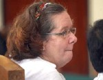 PHOTO: Lindsay June Sandiford of Britain sits at a courthouse during her trial in Denpasar, Bali island, Indonesia, Jan. 7, 2013.